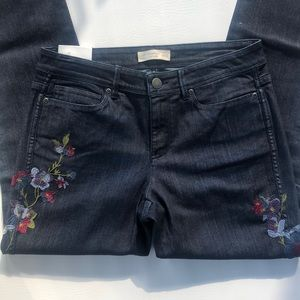 NWT J Jill embroidered slim ankle jeans Luna 6